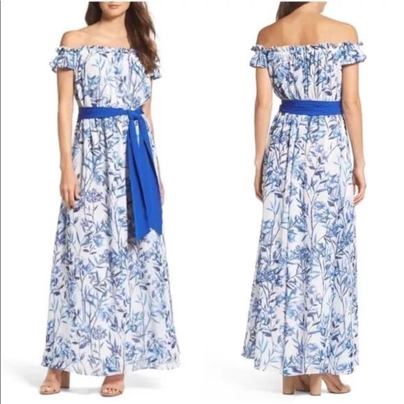 d2ed5f820b746 Eliza J Dresses & Skirts - ELIZA J OFF THE SHOULDER FLORAL MAXI DRESS